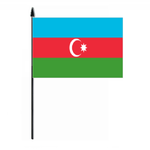 Azerbaijan Country Hand Flag - Medium
